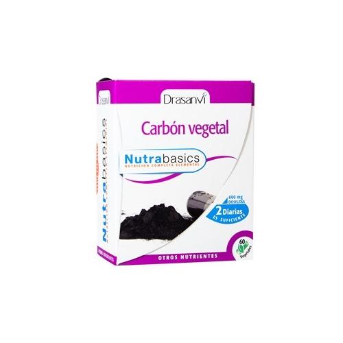 CARBON VEGETAL - NUTRABASIC DRASANVI 60 CAPSULAS