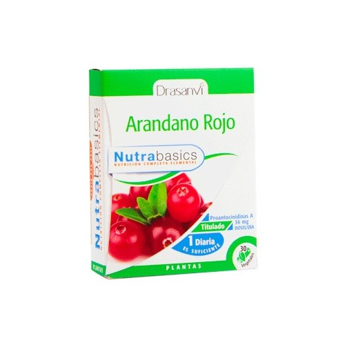 Arándano rojo - Nutrabasics de Drasanvi, 30 caps