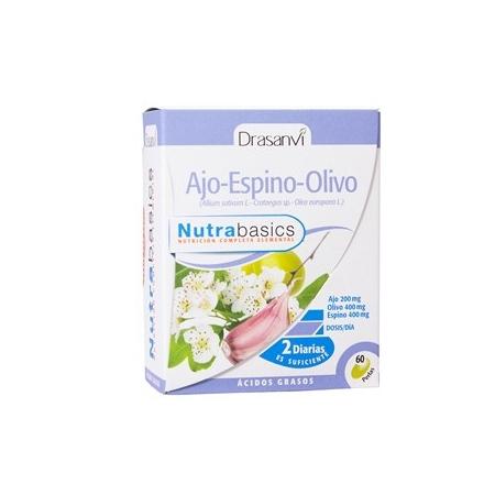 AJO, ESPINO Y OLIVO - NUTRABASIC DE DRASANVI 60 PERLAS